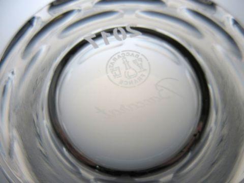 バカラの2017年イヤータンブラーのルチア刻印