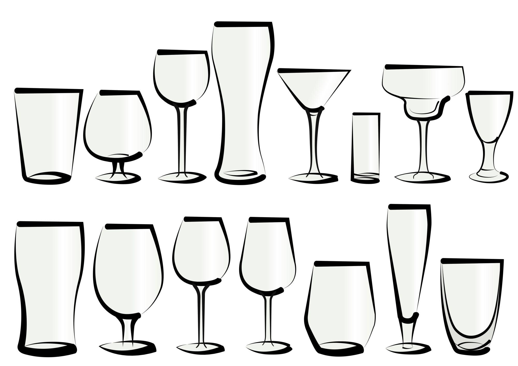 グラス 種類 イラスト 様々な形状 一覧
