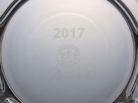バカラのルチアのロックグラス、2017年イヤータンブラー2017刻印