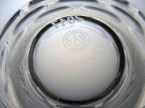 バカラのルチアのロックグラス、2017年イヤータンブラー刻印