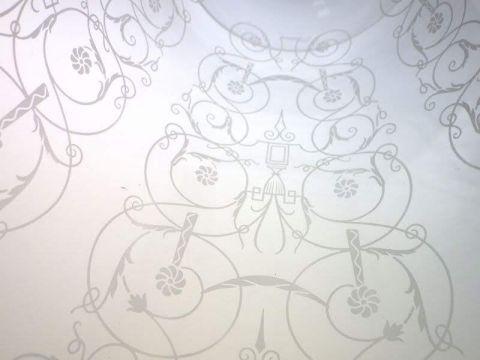 バカラの花瓶、ミケランジェロの文様接写