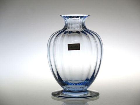 バカラの花瓶、一輪挿しのアクアレーユ青色