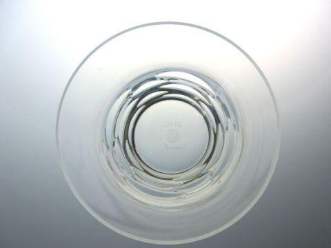 バカラのローラ、ロックグラス真上から