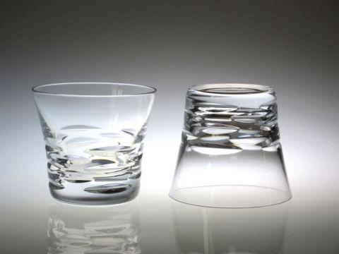 バカラのローラ、ペアロックグラス