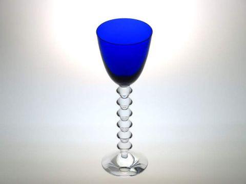 バカラのワイングラス、ベガフォルテッシモ青ブルー