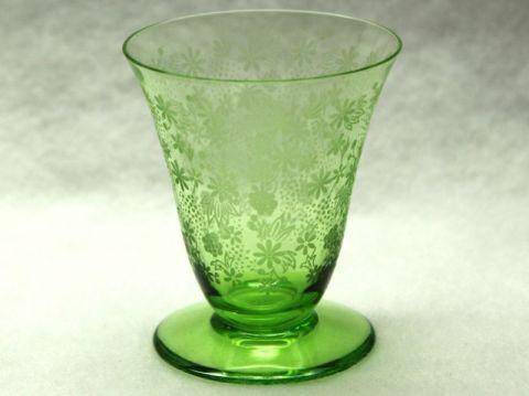 バカラのワイングラス、エリザベート緑グリーン