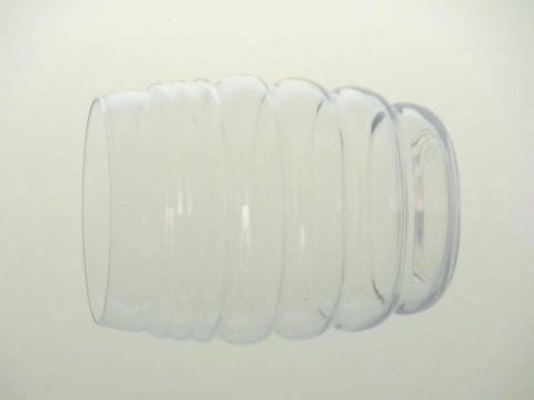 バカラの雲形タンブラー、もこもこのハイボール(タンブラー)グラス横向き