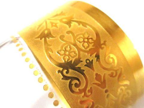 バカラのロックグラス、コンコルド金彩部分アップ