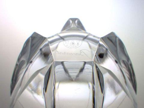 バカラのロックグラス、ネプチューン五角形の複雑な底部