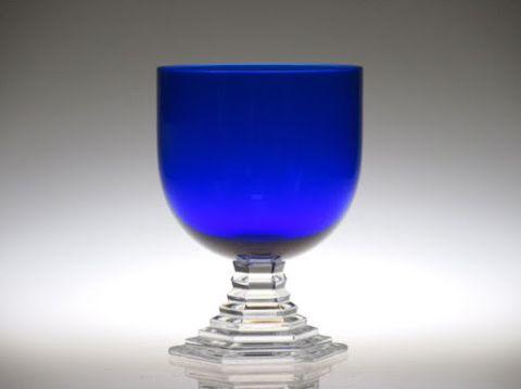 バカラのワイングラス、オルセー青色ブルー