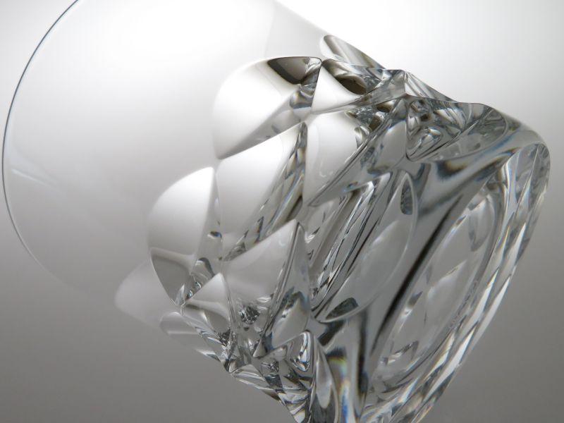 バカラのロックグラス、ブラーヴァのカット部分