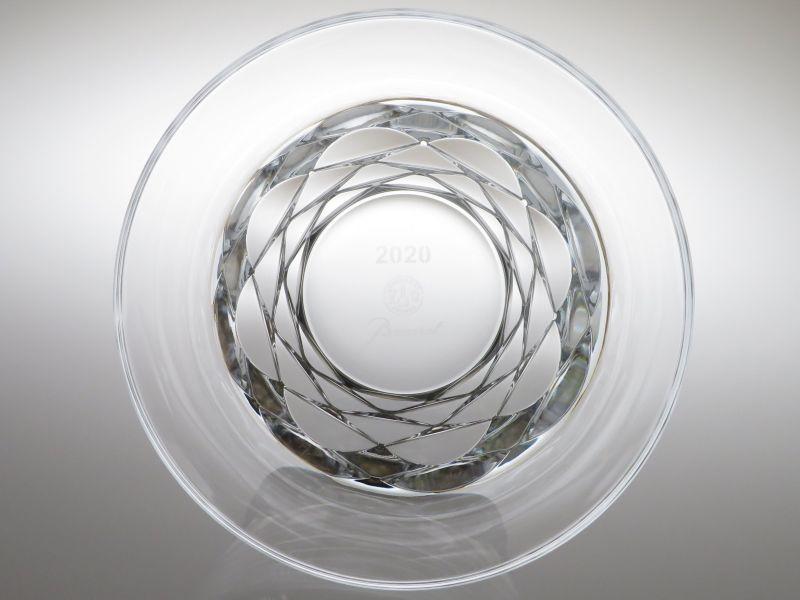 バカラのブルゴス、ロックグラス真上から