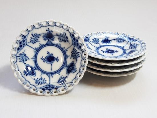 ロイヤルコペンハーゲン ブルーフルーテッド バター皿