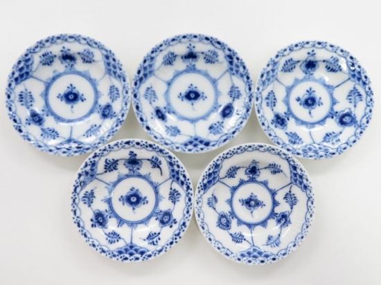 ロイヤルコペンハーゲン ブルーフルーテッドハーフレース ミニバター皿
