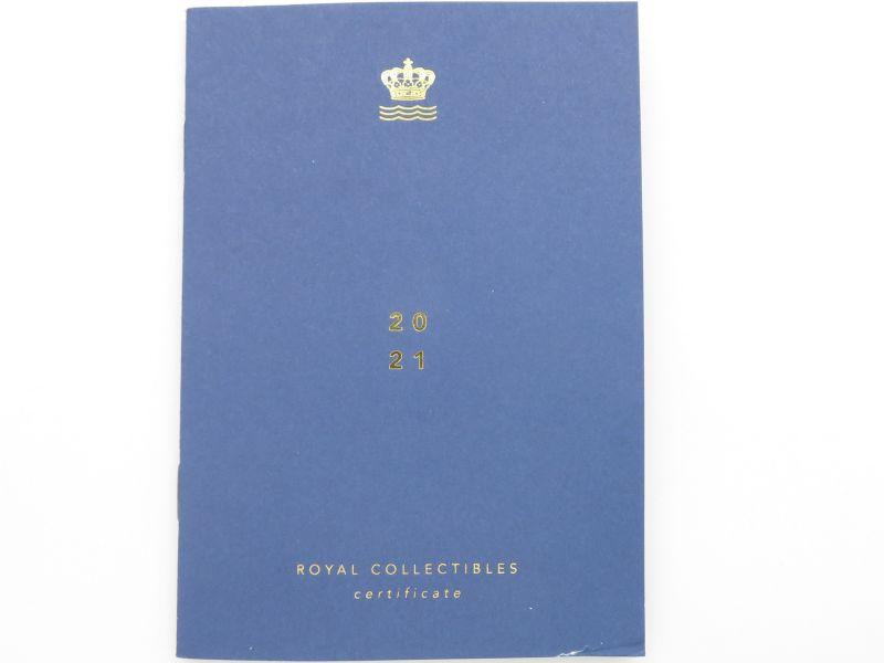 ロイヤルコペンハーゲンの2021年のイヤープレート、ウィンターインザガーデン同封冊子表
