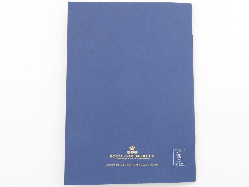 ロイヤルコペンハーゲンの2021年のイヤープレート、ウィンターインザガーデン同封冊子裏